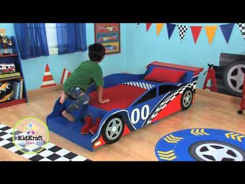 Boys Racing Car Cars Toddler Bed KidKraft 76038