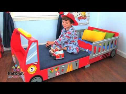 Boys fire engine toddler bed KidKraft  76031